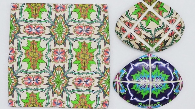 Victorian Tile Jewellery in Polymer Clay a Tutorial