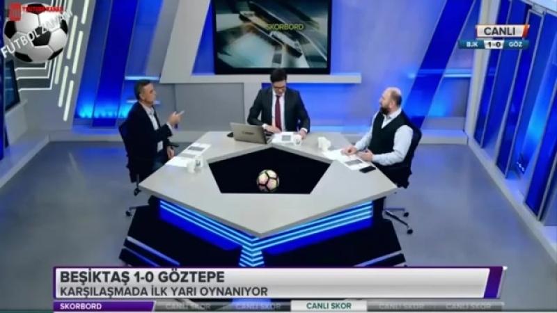 Beşiktaş 2 0 Göztepe maçı ilk yarısı Skorbord yorumları 7 Nisan 2018