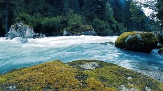 Turquoise River Relaxing Sounds. Nature White Noise for sleep (10 hours)
