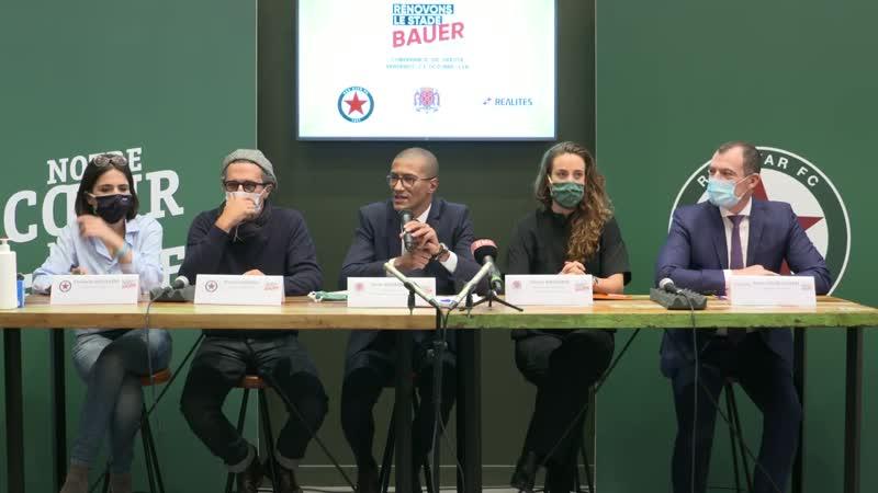 Rénovation du stade Bauer Сonférence de presse 23 10 2020