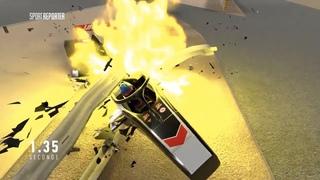 New animation of Romain Grosjean's huge crash at the 2020 Bahrain GP (Canal Plus)