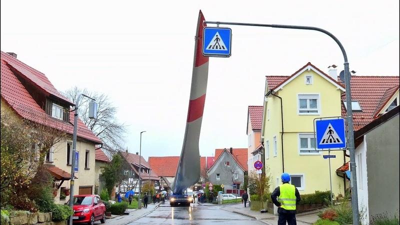 **MEGA** Wind Turbine Blade Transport Windrad Rotorblatttransport Schlichten Goldboden 2017