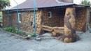 оформление фасада дома декоративная штукатурка под камень. из цемента работа Дворян Василий.