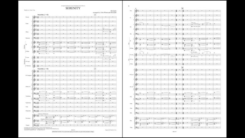 Serenity by Ola Gjeilo arr J Eric Wilson Ola Gjeilo