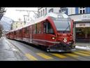 Swiss Trains Street Running in Chur