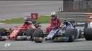Vettel Hitches A Lift After Crash | 2017 Malaysian Grand Prix