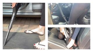 Vacuuming My Audi - Cleaning My Car Interior