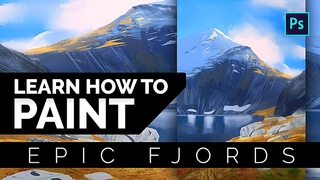 Learn How To Paint Epic Fjords - Digital Painting Tutorial