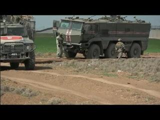 44th Russian Turkish joint patrol in Darbasiyah district, Northeastern Syria