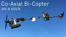 Coaxial BiCopter Flying Stick - Brushless Rocket Project - RCTESTFLIGHT