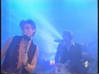 "A-ha dark is the night, italian tv show ""festival bar"", 06.07.93"