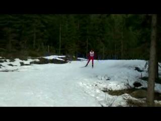 Пародии на лыжный стиль знаменитых норвежских гонщиков и биатлонистов