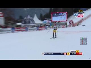 Горные лыжи Кубок Мира 2011 12 Лиенц Австрия Женщины Слалом Eurosport 2 попытка