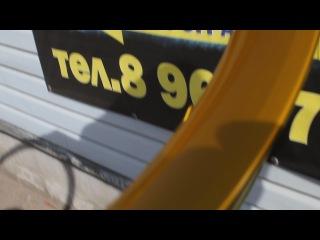 Эксклюзивная покраска обода велосипеда под золото от Aerosalut