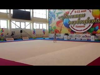 Выступление нашей Аминушечки на соревновании по художественной гимнастике Весенние первоцветы