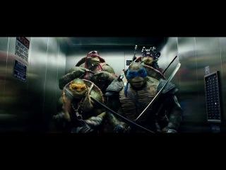 Черепашки нинзя в лифте-- big time rash отдыхает