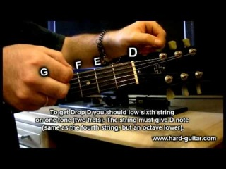 ♫ What is Drop D guitar lesson (how to tune guitar to Drop D tutorial)