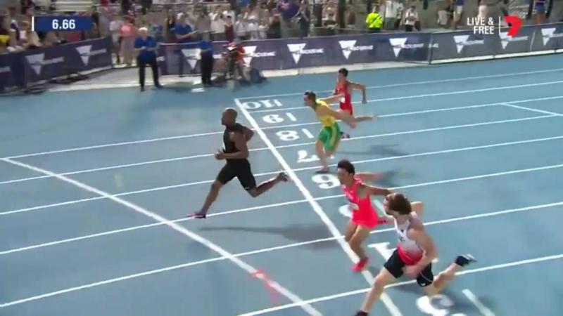 2017 02 04 Melburn 60m Asafa Powell 6.6c