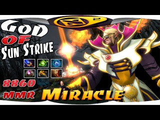 Miracle Invoker - God of Sun Strike 8860 MMR Ranked Liquid Gameplay - Dota 2