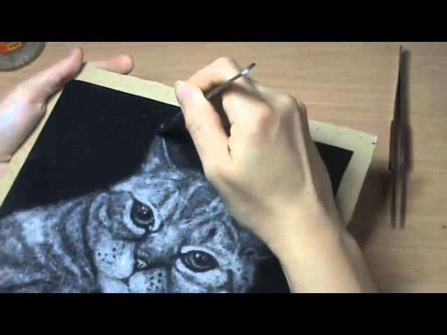 Мастер-класс по рисованию тополиным пухом Poplar Fluff Drawing