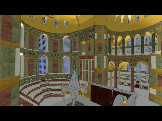 Three dimensional reconstruction of the Hagia Sophia's byzantine sanctuary