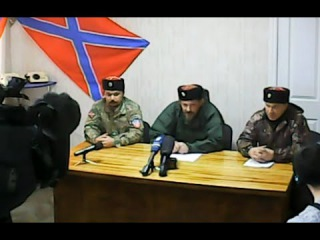 Почему продолжают бомбить Новороссию!!! Пресс-конференция 1-го полка Казачей Национальной Гвардии