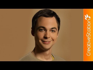 Sheldon Cooper (Jim Parsons) - Speed Painting (#Photoshop) | CreativeStation\\lki
