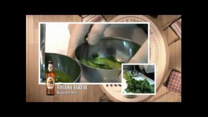 Viviana Varese Filetto di Rombo con Pop Corn di Amaranto e Caramello alla Birra Moretti