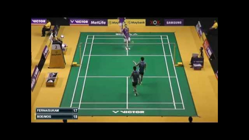 2015 Maybank Malaysia Open R32 MD Gideon Markus FERNALDI Kevin Sanjaya SUKAMULJO vs BOE MOGENSEN