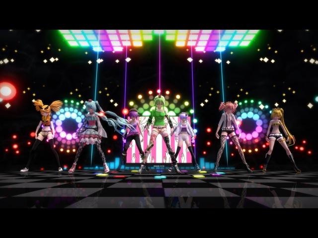 「MMD」 Wonderful Nippon! ワンダホー・ニッポン ! Gumi, Miku,Rin, Teto, Neru, Defoko, Yukari