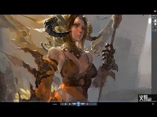 China Digital Painting - Siren Canyon - Artist Fire-lin