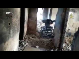 Повстанцы используют с дистанционным управлением пулемет в западной части #Aleppo