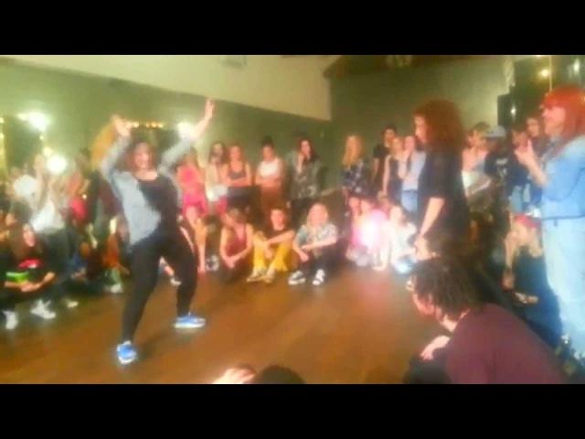 Dancehall Final Battle JuliYago win feat Liza Zero Big Up Production Anniversary 2015