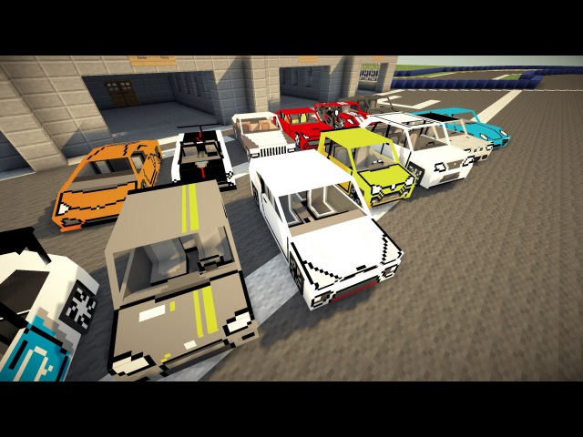Minecraft Flans mod Too many cars Poker's garage content pack 1 4 7