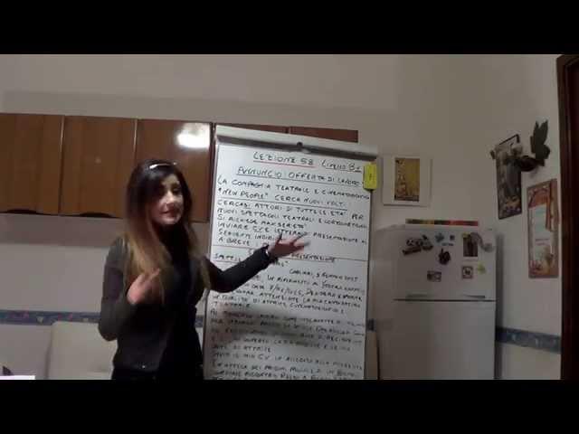 One World Italiano Lezione italiano 58 Il mio sogno è quello di diventare un'attrice