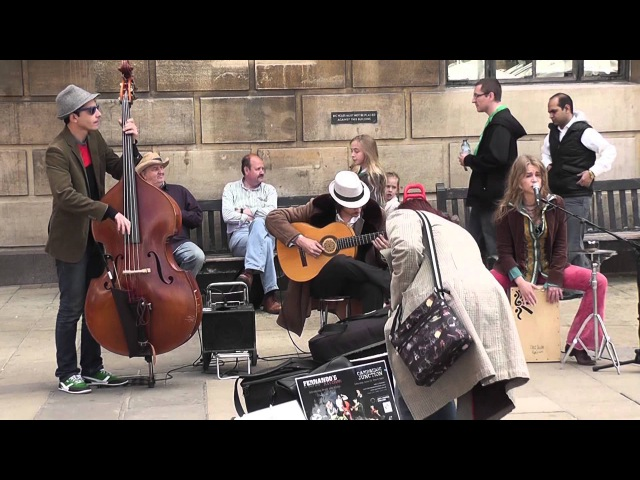 Sway cover version by Fernando's Kitchen Cambridge 2nd June 2013 live street performance