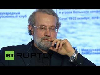 """Россия: Иран хвалил Сирия Путина поражает как """"серьезное предупреждение для террористов""""."""