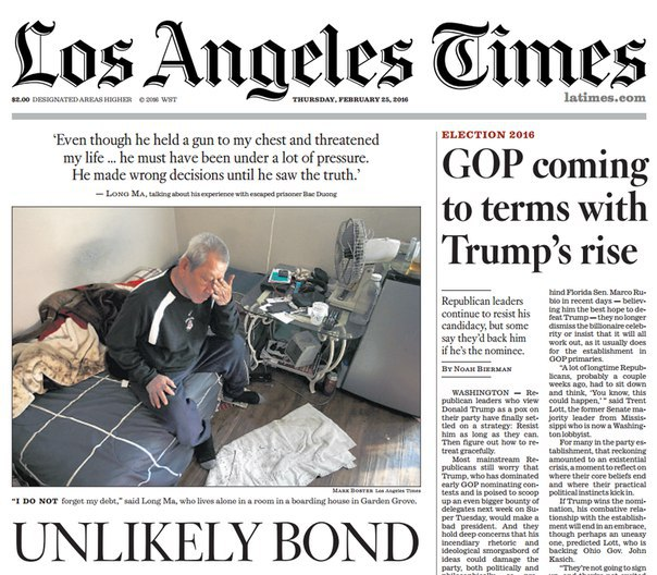 Los Angeles Times February 25- 2016