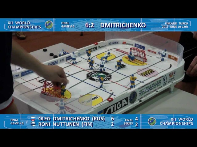 Настольный хоккей-Table hockey-WCh-2011-DMITRICHENKO-NUTTUNEN-Game6-comment-TITOV
