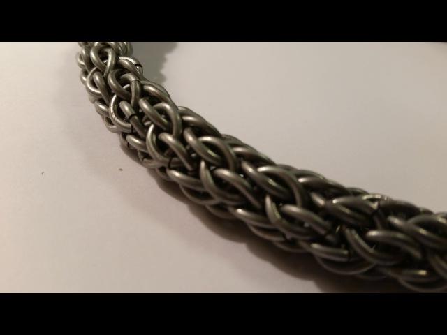Плетение Candy Cane Cord. Плетение из колец. Как сделать цепочку Урок 8.