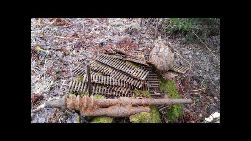 WW2, пулемёт Гочкис , эхо войны, Карбусельская операция. Search relics fo ww2