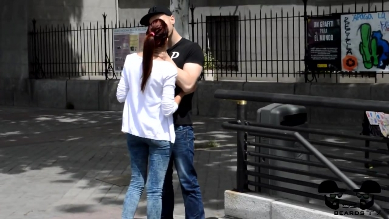 Player teen kissing street funny
