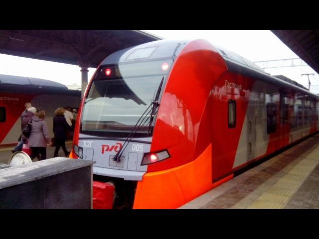 Поездка на электропоезде ЭС2Г-005 ЭС2Г-020 Ласточка (Москва – Клин)