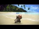 Танец на берегу пляжа попори