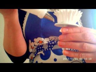 хризантема  из крема , белково заварной крем