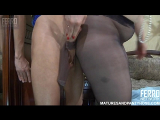 Ferro Network_ Flo - Matures And Pantyhose (mature, MILF, BBW, мамки - порно со