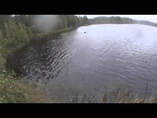 Не очень удачная рыбалка, щука перевернула лодку