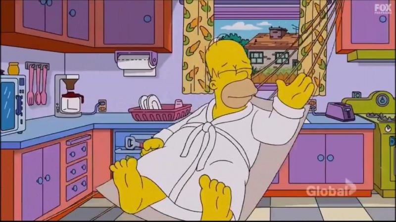 Когда один дома Симпсоны 2 серия 28 сезон