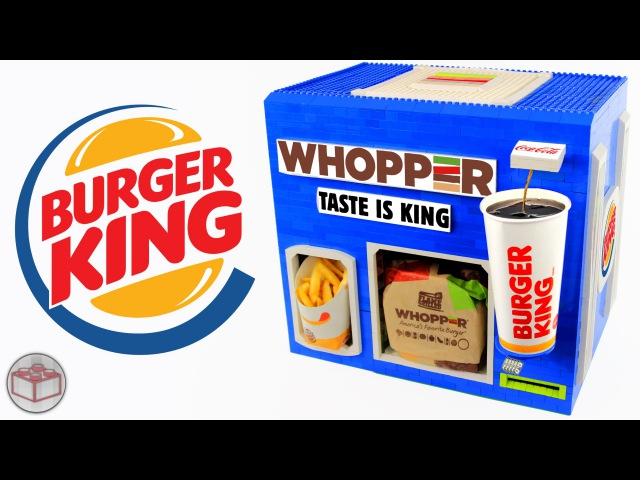 LEGO Burger King WHOPPER Meal Machine French Fries Coca Cola
