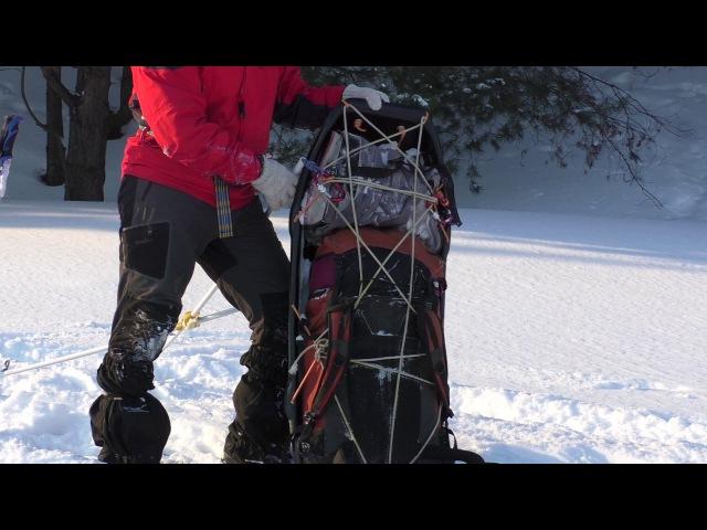 Походные сани-волокуши и система перевозки. DIY ski pulk and hauling system review.